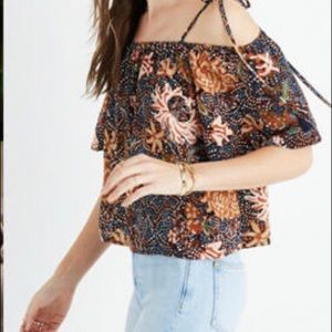 Madewell Silk Top - size M NWOT